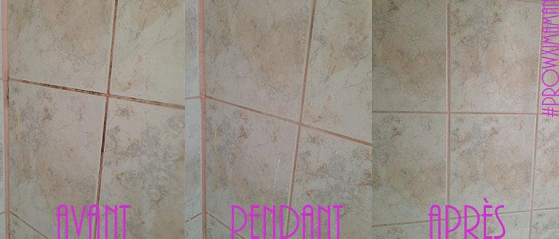Maison percarbonate de soude ou la magie en poudre prowximaman - Nettoyage carrelage salle de bain ...